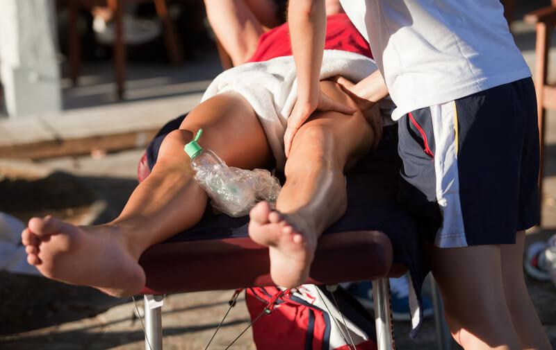 спортивный масаж