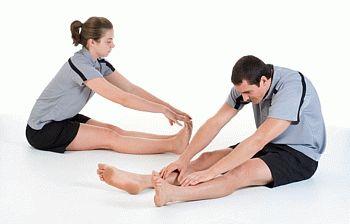 Упражнения после перелома колена