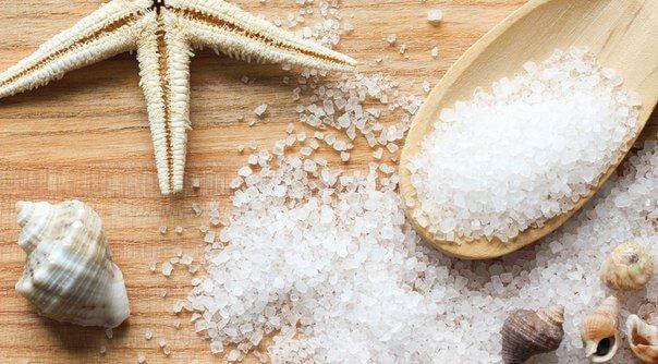 снять отек с голени с помощью морской соли