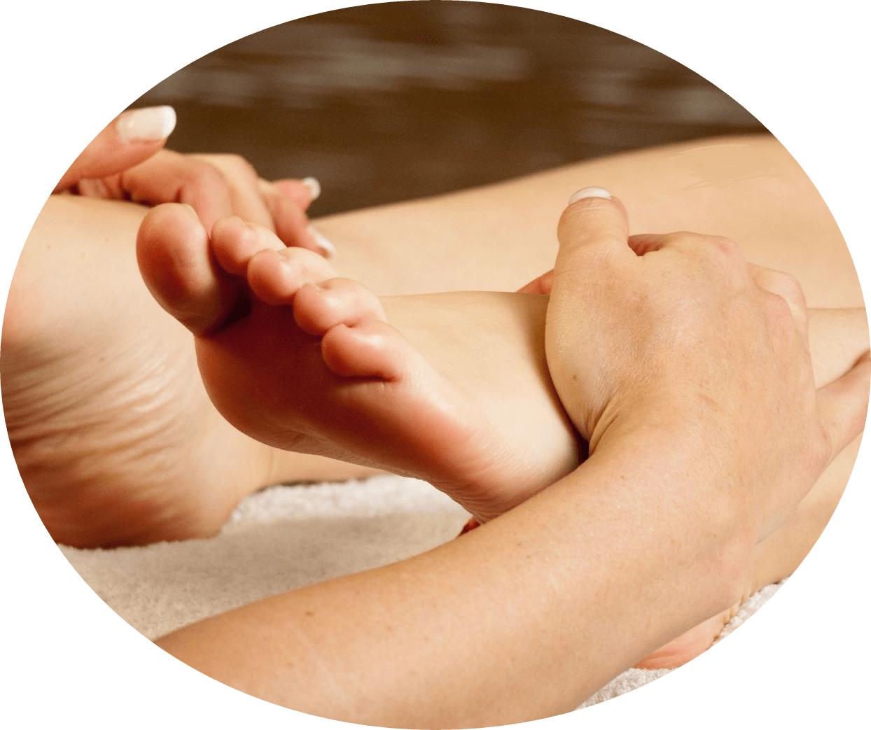 массирование ног