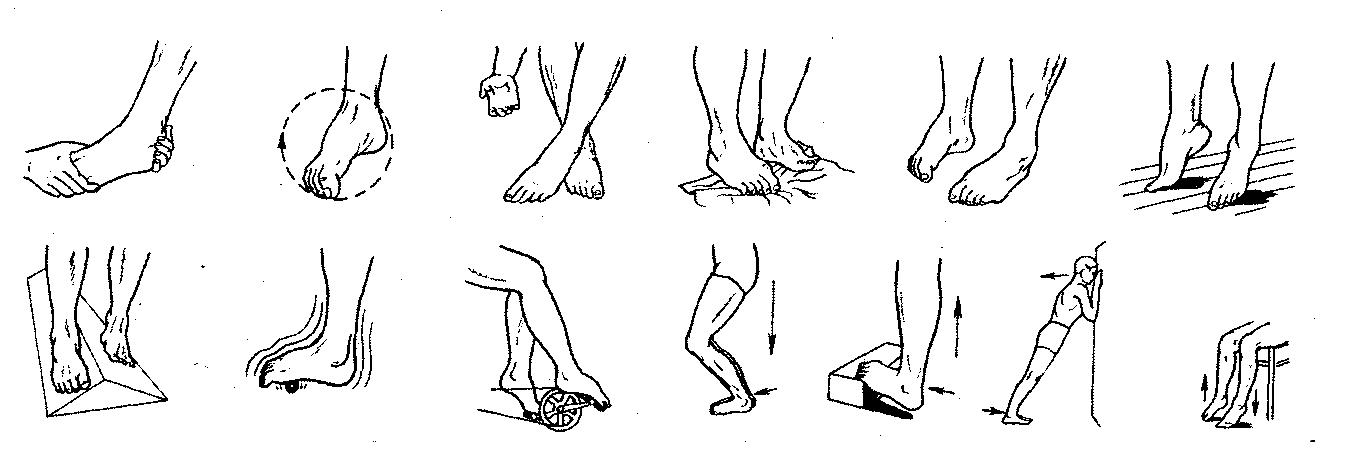 реабилитация голеностопного сустава