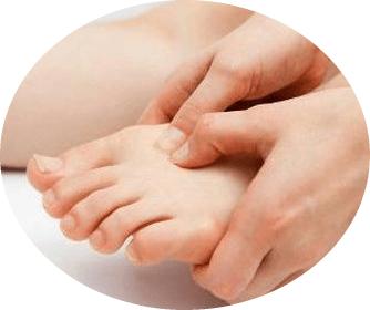 массаж пальца стопы